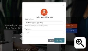 Figure 4 -Fake Office 365 Login Page