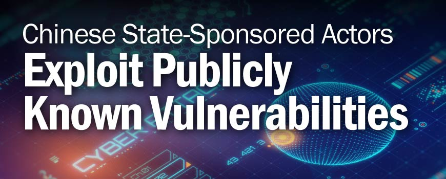 Chinese State-Sponsored Actors Exploit Publicly Known Vulnerabilities