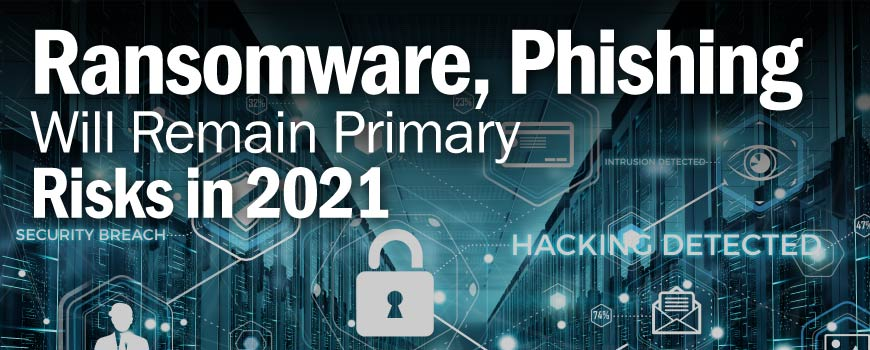 Ransomware, phishing will remain primary risks in 2021